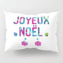 Merry Christmas in French Joyeux Noel Pillow Sham