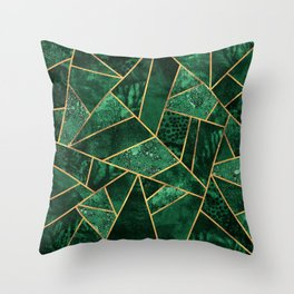 Deep Emerald Throw Pillow