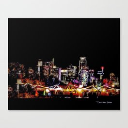 Zilker Park Trail Of Lights - Graphic 1 Canvas Print