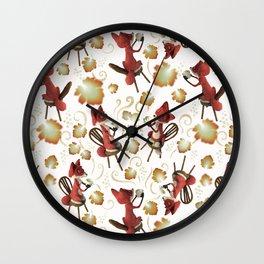 La Fontaine Grape Tea Wall Clock
