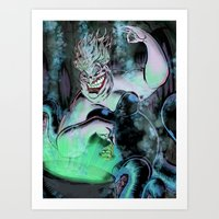 ursula Art Prints featuring Ursula by Iggycrypt