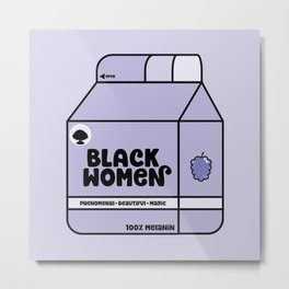 Black Women - Berry Metal Print
