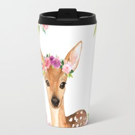 Fawn in Wreath Travel Mug