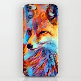 Fox Watercolor iPhone Skin