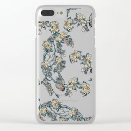 Bullfinch and French Bulldog Cherry Clear iPhone Case