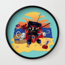 Lucky the Pirate Wall Clock