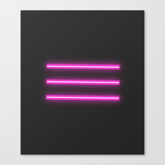 neon lights Canvas Print