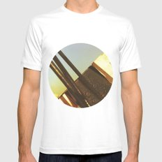 out out White MEDIUM Mens Fitted Tee