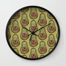bear avocado Wall Clock