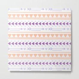 Modern geometric abstract hand painted tribal pattern Metal Print