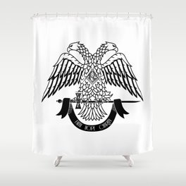 Two-headed eagle as Masonic symbol Shower Curtain