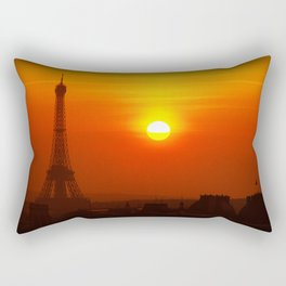 Red Paris Rectangular Pillow