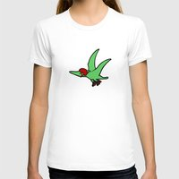 roller derby T-shirts featuring Roller Derby Pterodactyl by Jez Kemp