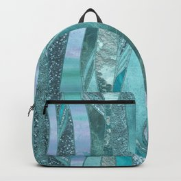 Precious Aqua And Turquoise Glamour Backpack