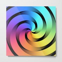 Spiraling Spirals Metal Print