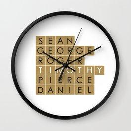 My favorite James Bond is... Timothy Dalton Wall Clock