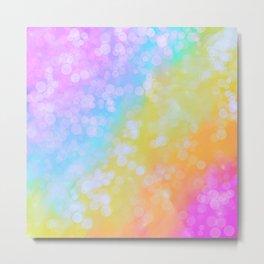 Rainbow Bubble Pop Metal Print