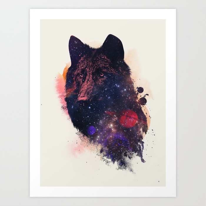 Discover the motif UNIVERSAL WOLF by Robert Farkas as a print at TOPPOSTER