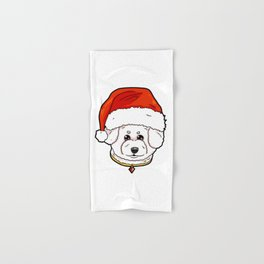 Bichon Frise Dog Christmas Hat Present Hand & Bath Towel