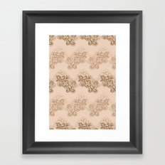 Brown Lace Framed Art Print