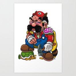 Super Over It Mario Art Print