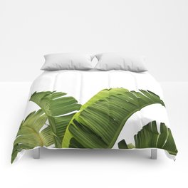 Tropical Banana Plant Leaves Comforters