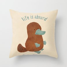 Platypi Don't Lie Throw Pillow