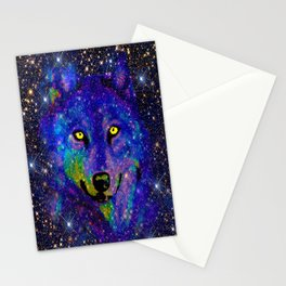 CELESTIAL WOLF Stationery Cards
