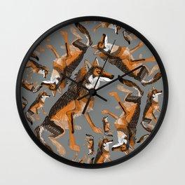 Totem Iberian wolf Wall Clock
