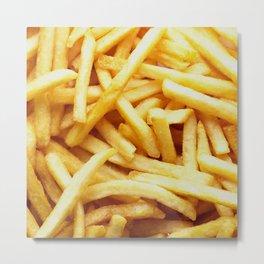 French fries pattern  Metal Print
