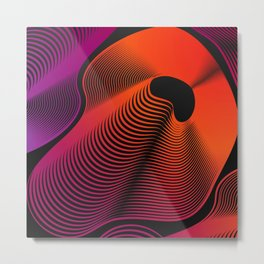 Abstract Moire Metal Print