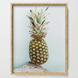 Tropical Pineapple - Bahamas - Travel Photography Serving Tray