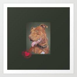 True Love - Red Nose Pitbull Terrier Art Print