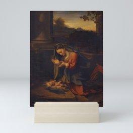 Antonio da Correggio - Adoration of the Child Mini Art Print