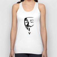 vendetta Tank Tops featuring Vendetta by The Vector Studio