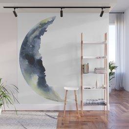 Crescent Moon Watercolor Wall Mural