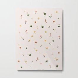 Flowers & Leaves Metal Print