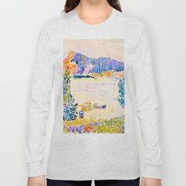 Henri-Edmond Cross Neo-Impressionism Pointillism Cap Nègre 1909 WatercolorPainting Long Sleeve T-shirt