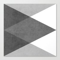 triangles Canvas Prints featuring black and white triangles by her art