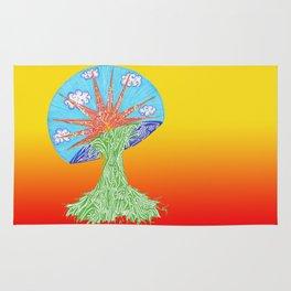 Sunrise Mushroom Rug