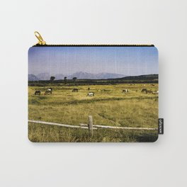 Horse Herd in the Tetons Carry-All Pouch