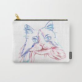 Fluffy Tuxedo Cat Carry-All Pouch