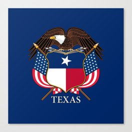Texas flag and eagle crest concept Canvas Print