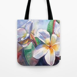 Tropical Plumeria Flowers Tote Bag