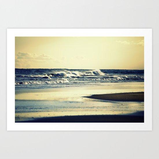 Hatteras Beach Art Print
