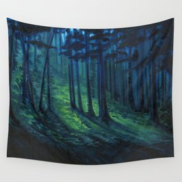 Lovely, Dark, and Deep Wall Tapestry