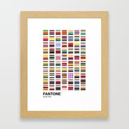 S. Park - FANTONE® Collecton Framed Art Print