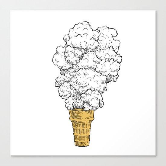Volcano ice cream Canvas Print