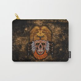 indian native lion the day of the dead sugar Skull iPhone 4 4s 5 5c 6, ipod, ipad, pillow case Carry-All Pouch