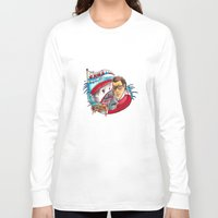 jaws Long Sleeve T-shirts featuring Jaws  by Christopher Chouinard